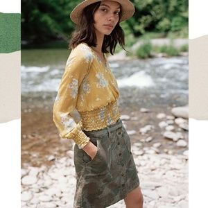 Anthropologie Camo Utility Skirt